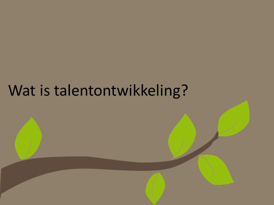 Wat verstaat men onder het begrip 'talent'.