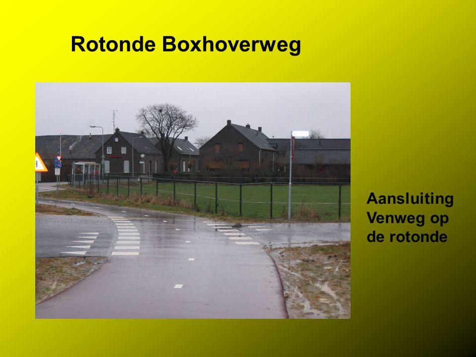 Rotonde Boxhoverweg Aansluiting Venweg op de rotonde