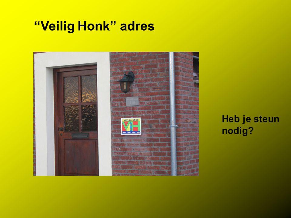 """Veilig Honk"" adres Heb je steun nodig?"