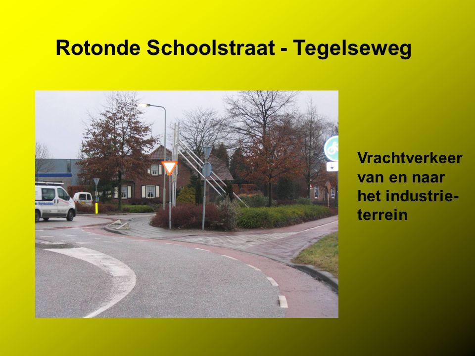 Rotonde Schoolstraat - Tegelseweg Vrachtverkeer van en naar het industrie- terrein