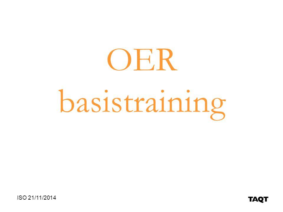 OER basistraining ISO 21/11/2014