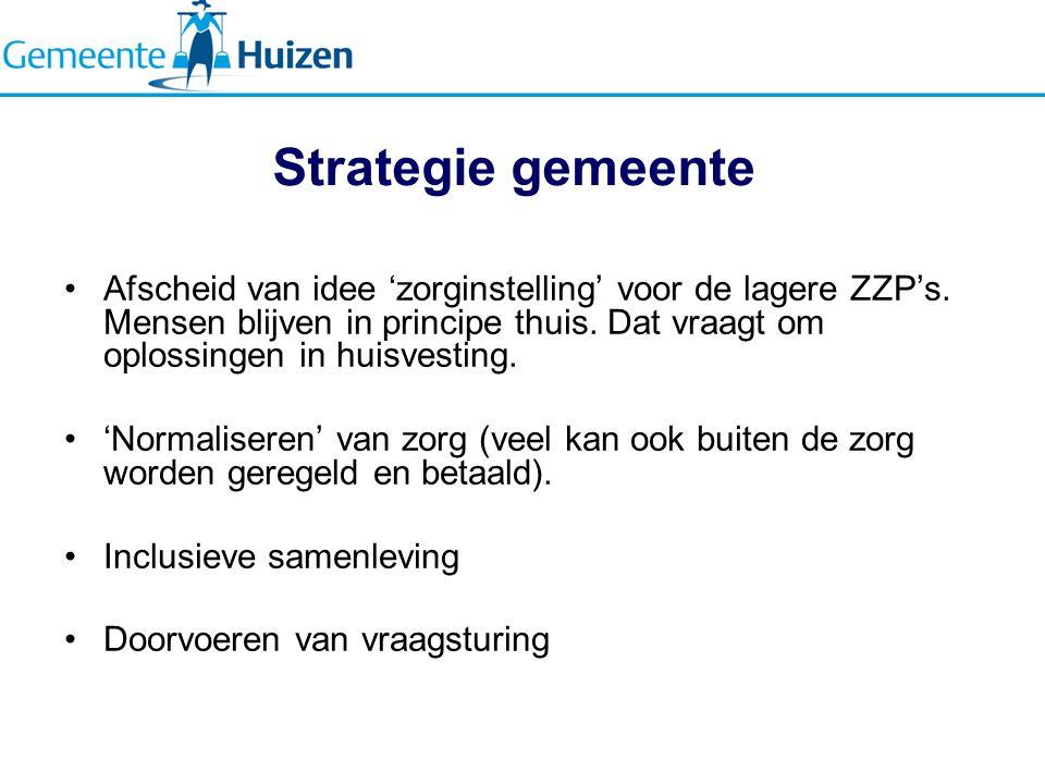 Strategie gemeente Afscheid van idee 'zorginstelling' voor de lagere ZZP's.