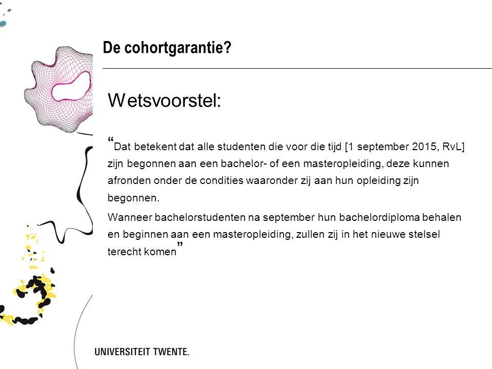 Mogelijke uitwerking cohortgarantie  Student technische Ba – cohort 2012.