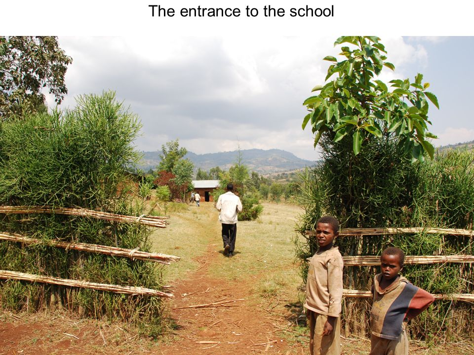 The entrance to the school