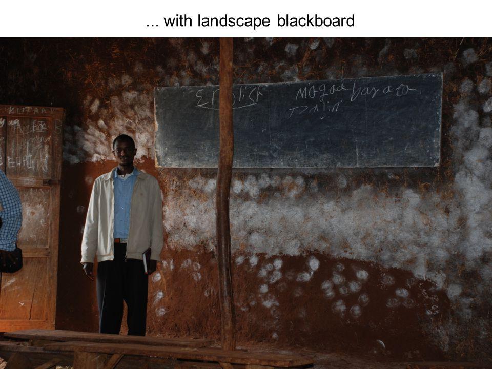 ... with landscape blackboard