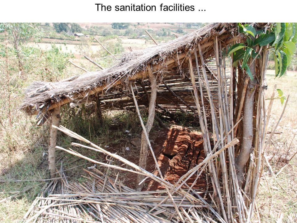 The sanitation facilities...