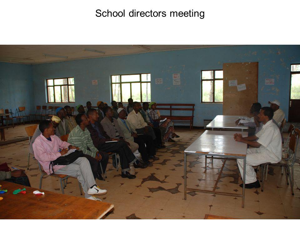 School directors meeting