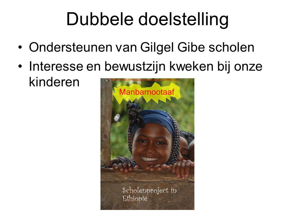 Dubbele doelstelling Ondersteunen van Gilgel Gibe scholen Interesse en bewustzijn kweken bij onze kinderen