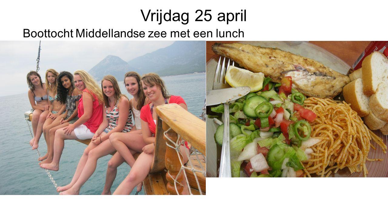 Vrijdag 25 april Boottocht Middellandse zee met een lunch