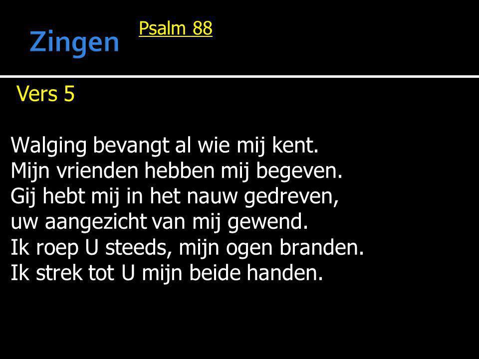 Psalm 88 Vers 6 Doet Gij aan doden wondren, HEER.Staan schimmen op om U te prijzen.