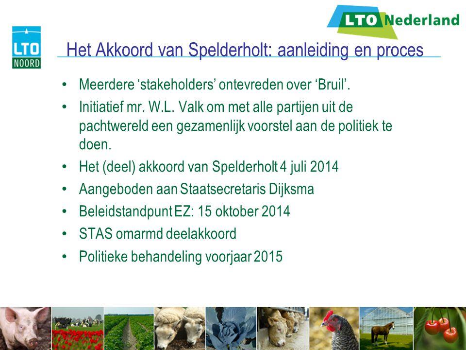 Het Akkoord van Spelderholt: aanleiding en proces Meerdere 'stakeholders' ontevreden over 'Bruil'. Initiatief mr. W.L. Valk om met alle partijen uit d