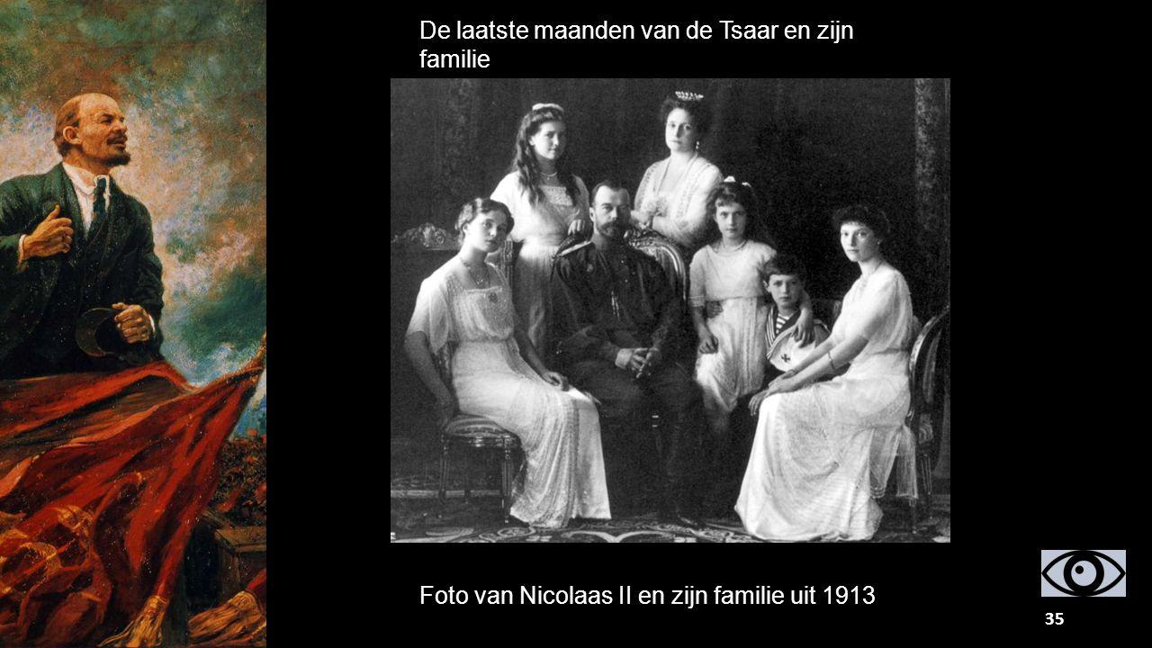 De laatste maanden van de Tsaar en zijn familie Foto van Nicolaas II en zijn familie uit 1913 35