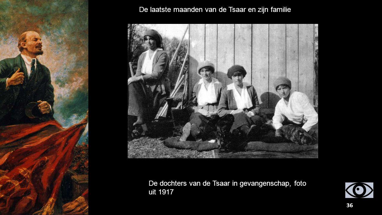 De laatste maanden van de Tsaar en zijn familie De dochters van de Tsaar in gevangenschap, foto uit 1917 36