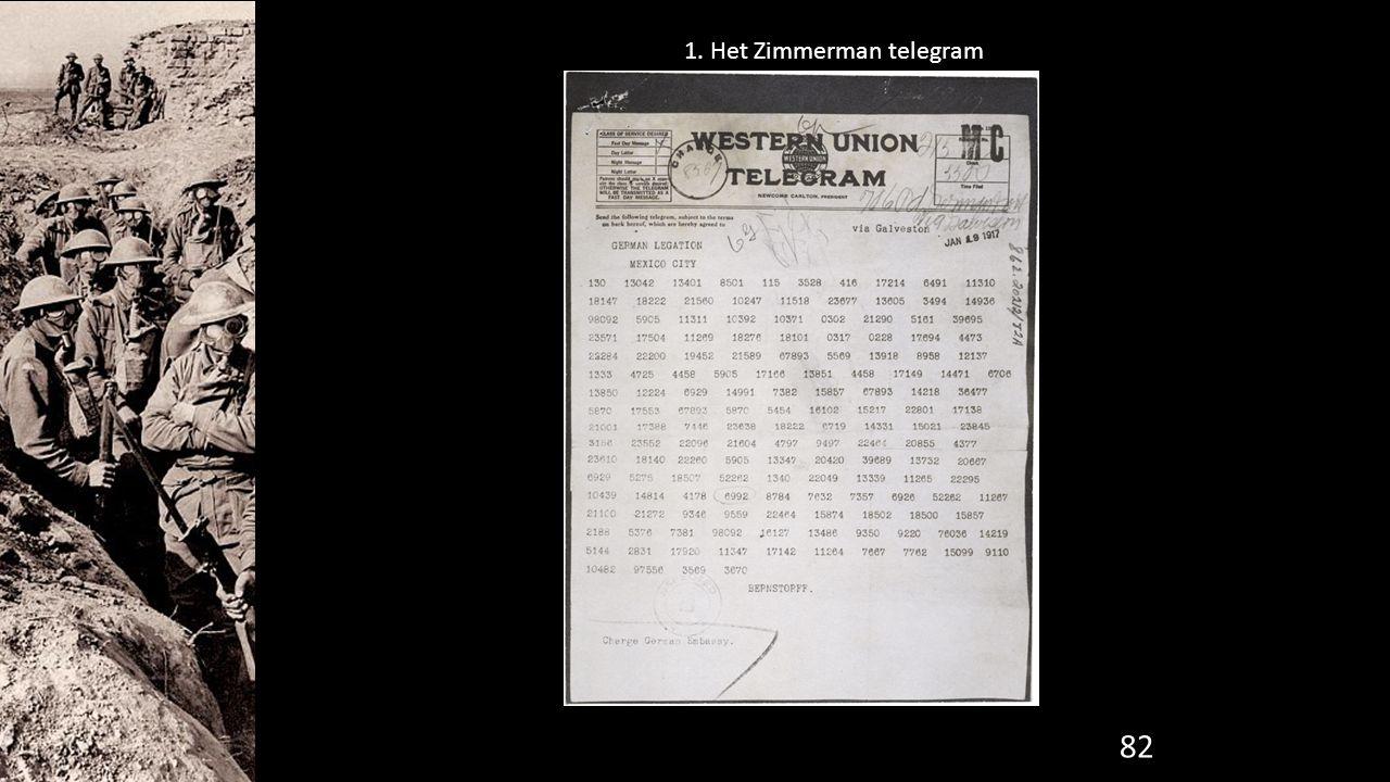 82 1. Het Zimmerman telegram