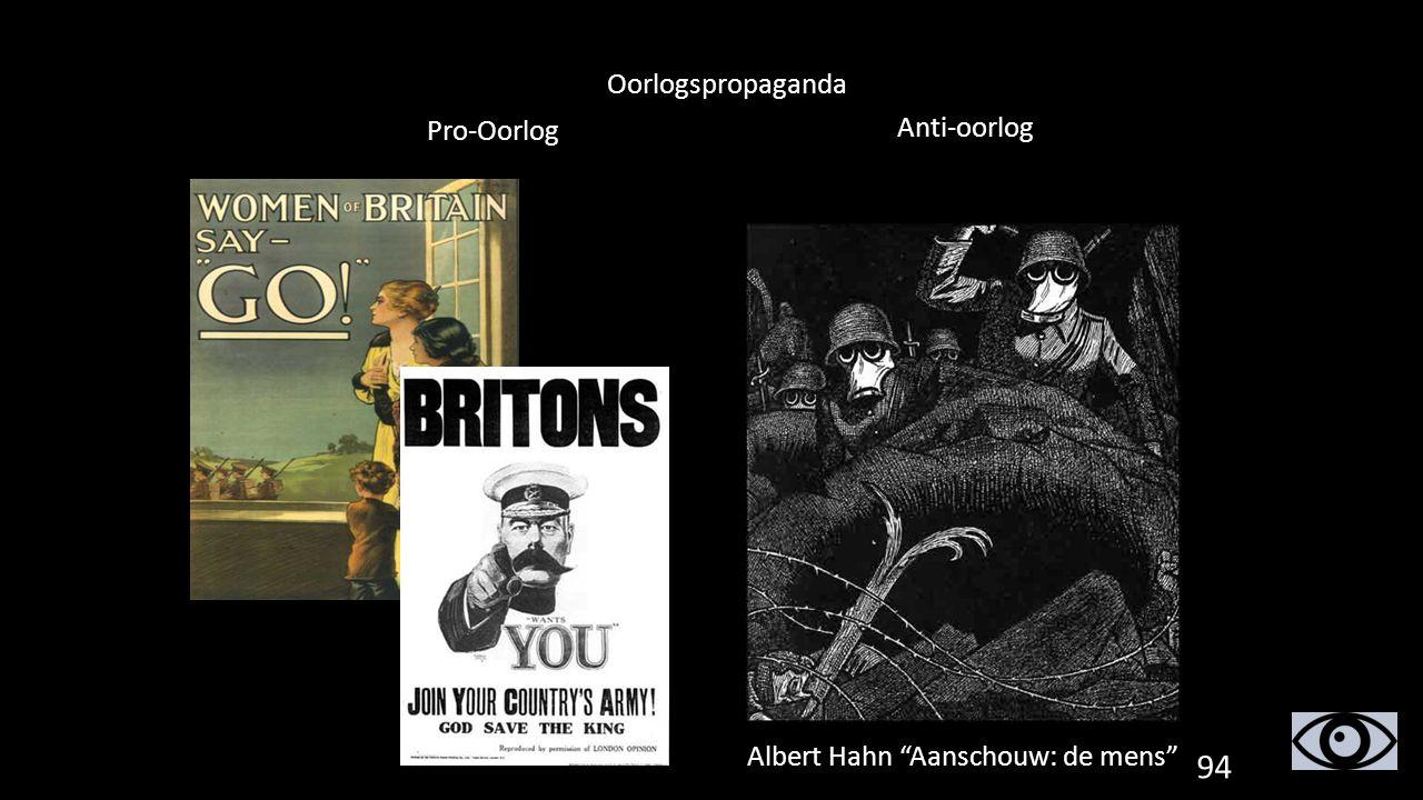"""Oorlogspropaganda Pro-Oorlog Anti-oorlog Albert Hahn """"Aanschouw: de mens"""" 94"""