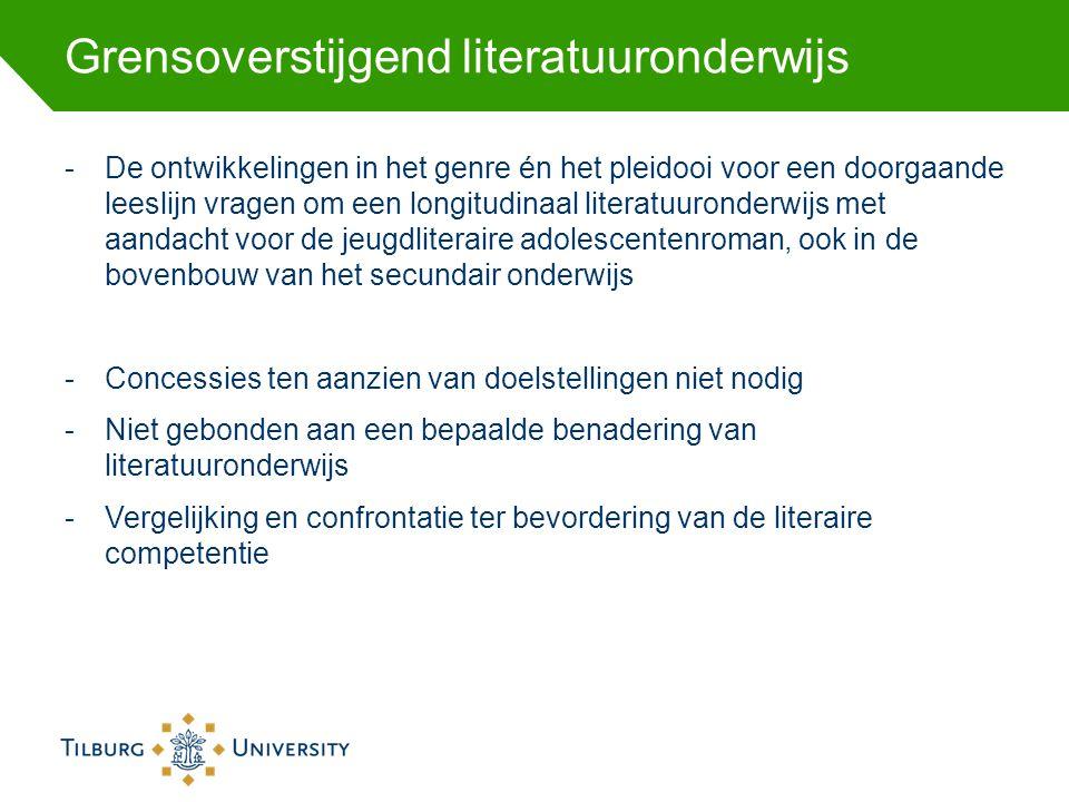 Grensoverstijgend literatuuronderwijs -De ontwikkelingen in het genre én het pleidooi voor een doorgaande leeslijn vragen om een longitudinaal literat