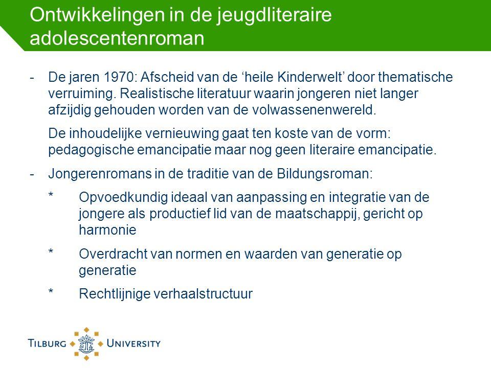 Ontwikkelingen in de jeugdliteraire adolescentenroman -De jaren 1970: Afscheid van de 'heile Kinderwelt' door thematische verruiming. Realistische lit