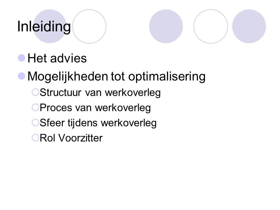 Het advies Afdelingsgerichte aanpak ter bevordering van het werkoverleg.