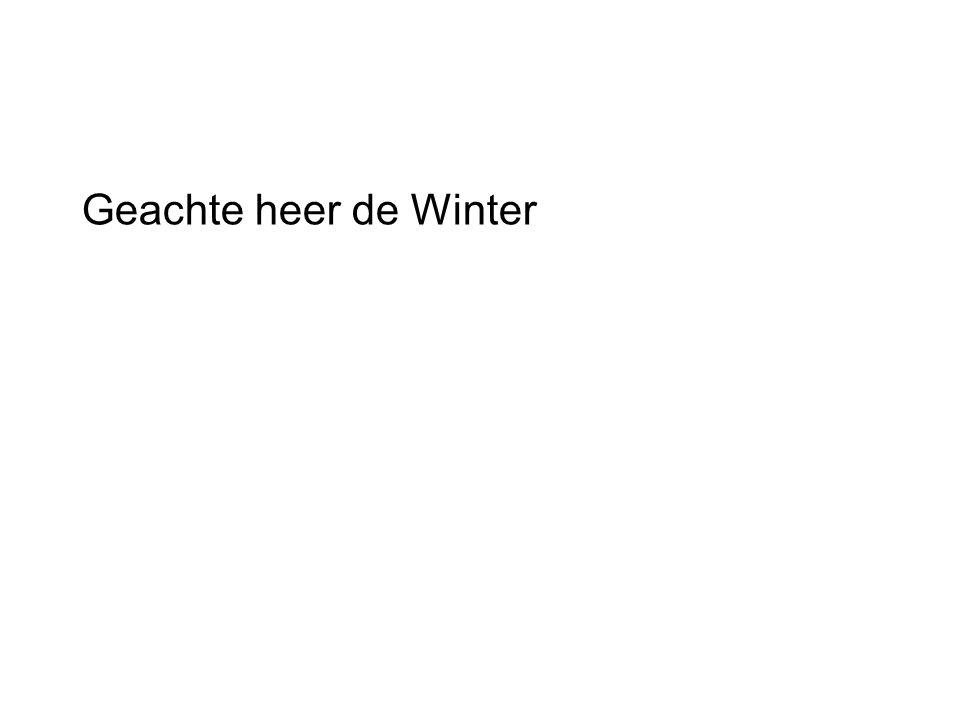 Geachte heer de Winter
