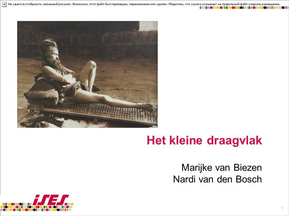 11 Het kleine draagvlak Marijke van Biezen Nardi van den Bosch