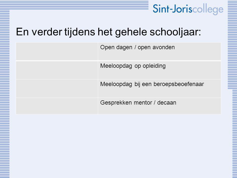 Informatie Informatie op de site van het Sint-Joris College: -Leerlingen decanaat -Link: dedecaan.net Contact: Martine van der Werf, decaan vwo m.vanderwerf@sghetplein.nl