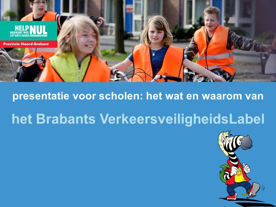 presentatie voor scholen: het wat en waarom van het Brabants VerkeersveiligheidsLabel