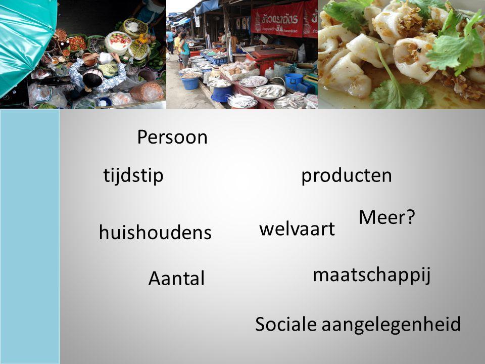 tijdstip Persoon Aantal Sociale aangelegenheid producten welvaart maatschappij huishoudens Meer