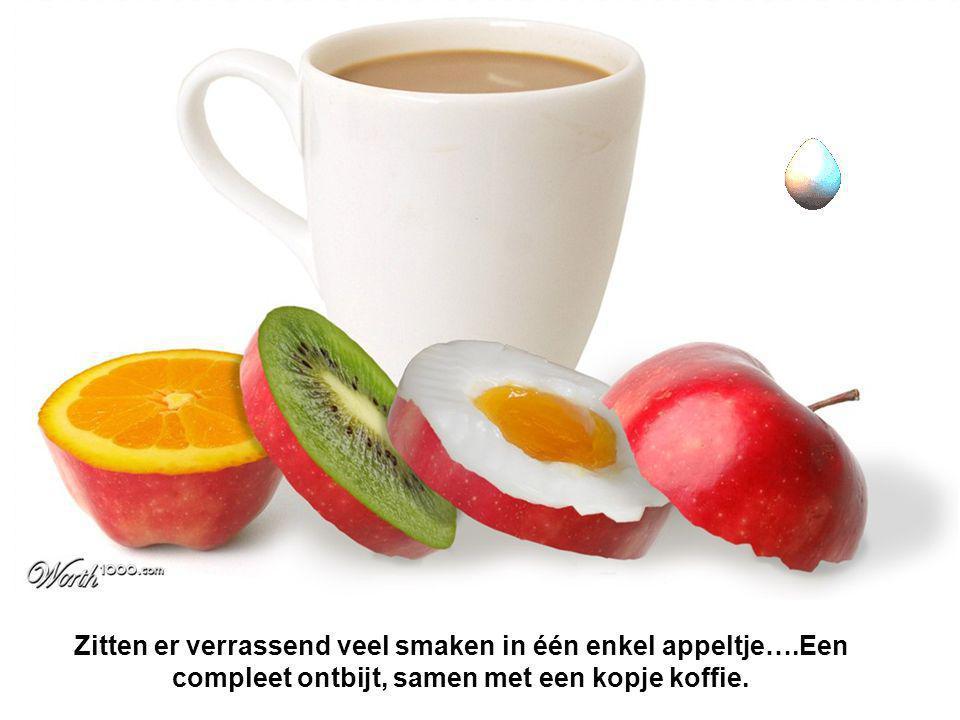 Zitten er verrassend veel smaken in één enkel appeltje….Een compleet ontbijt, samen met een kopje koffie.