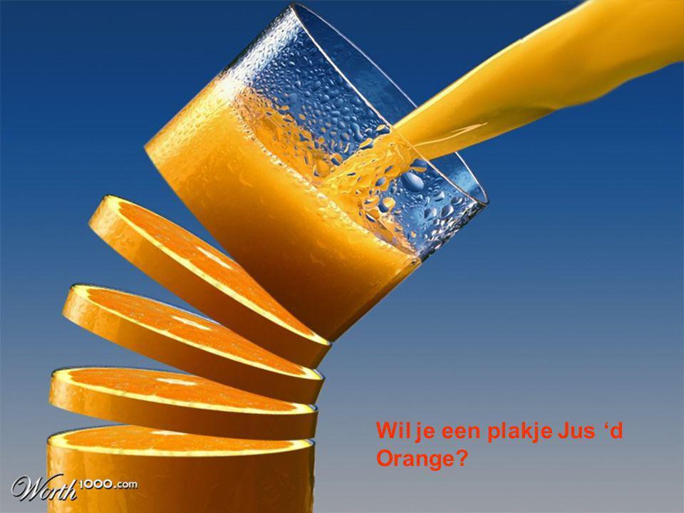 Zo'n dobbelsteen in plakjes, blijkt ineens een sappige sinaasappel..