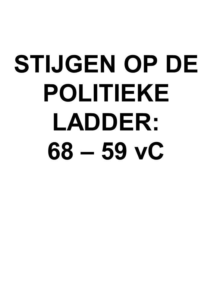 STIJGEN OP DE POLITIEKE LADDER: 68 – 59 vC