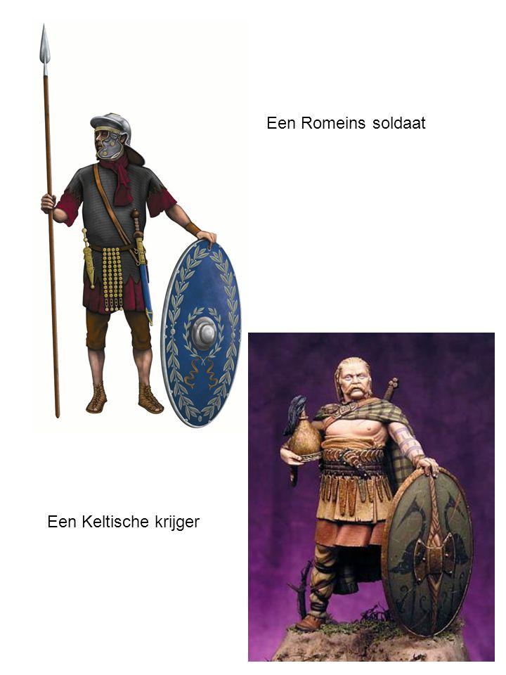 Een Romeins soldaat Een Keltische krijger