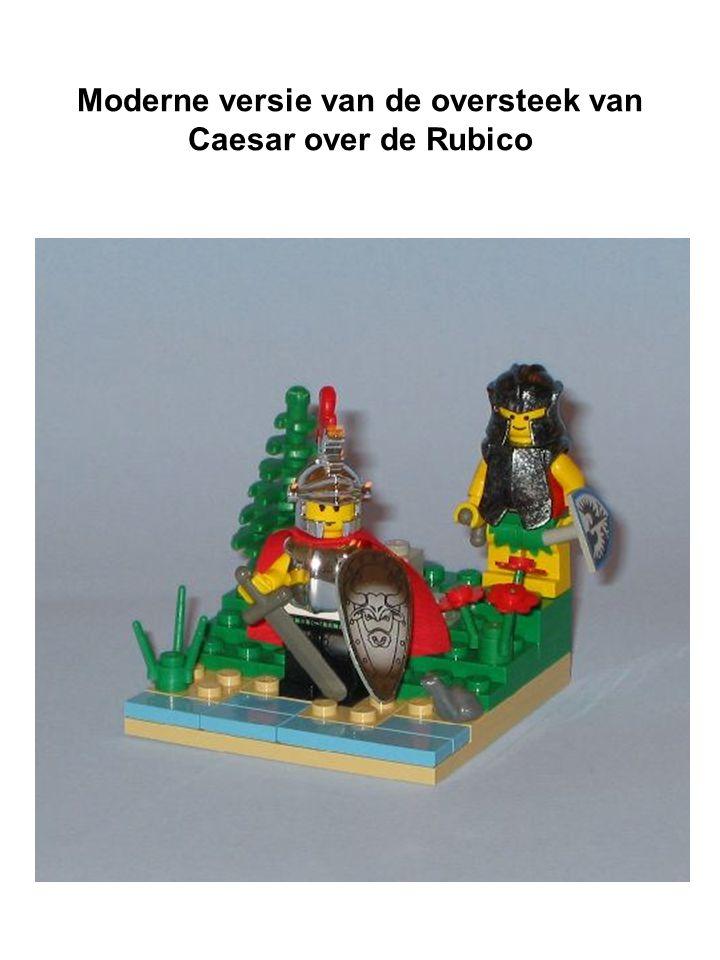 Moderne versie van de oversteek van Caesar over de Rubico