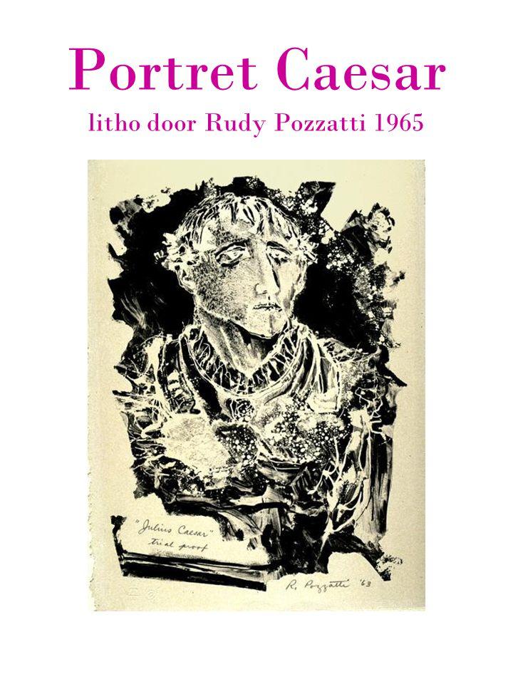Portret Caesar litho door Rudy Pozzatti 1965