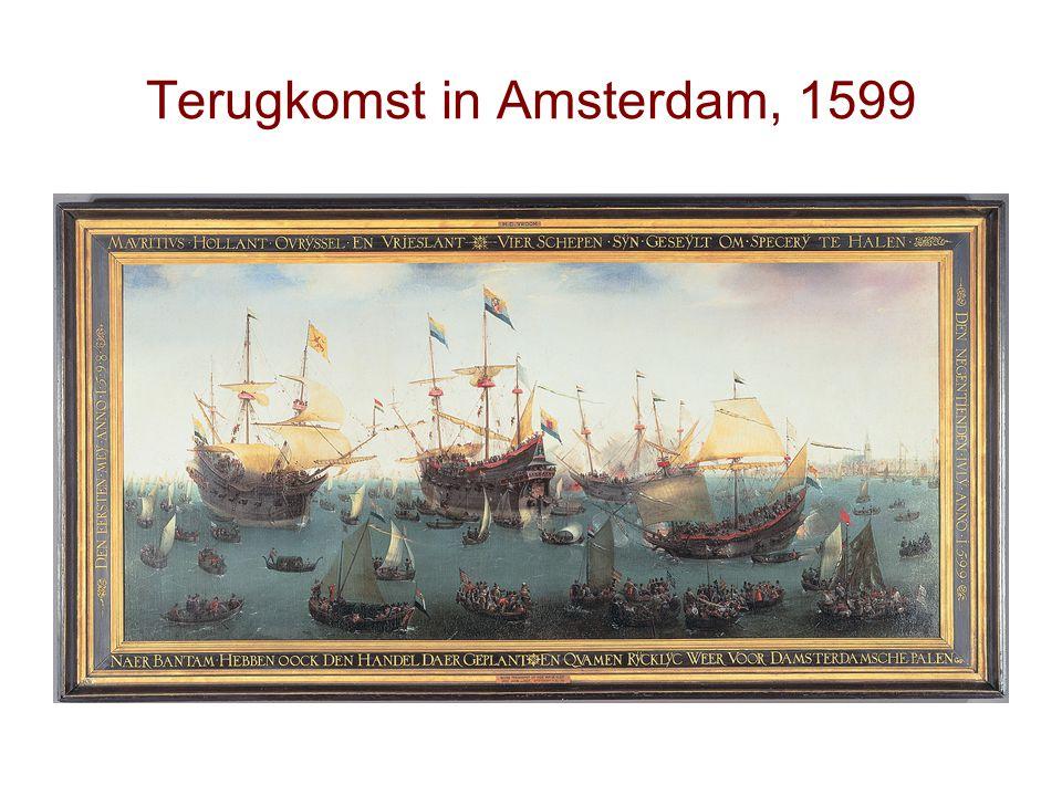 Terugkomst in Amsterdam, 1599