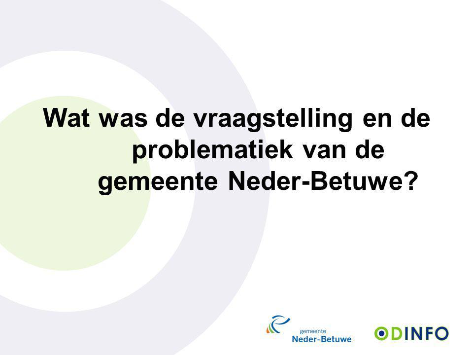 Wat was de vraagstelling en de problematiek van de gemeente Neder-Betuwe?