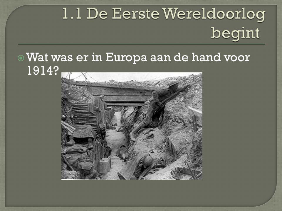  Wat was er in Europa aan de hand voor 1914?