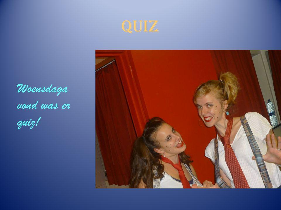 Quiz Woensdaga vond was er quiz!
