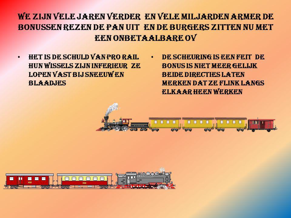 Naast een bestaande spoorlijn een nieuwe lijn voor goederen vervoer naar duitsland De directie van ns dealde met ansaldobreda veel trein voor weinig geld een italiaans ontwerp beter dan ahlstrom of siemens en goed voor de bonus Dat leek prorail wel wat een zeer rendabele lijn naar duitsland goed voor de bonus dat is fijn