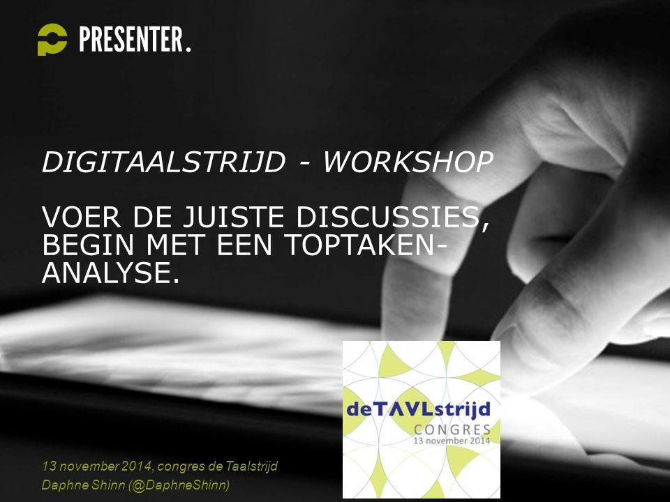 LET OP.Deze workshop gaf ik tijdens Congres De Taalstrijd op 13 november 2014.