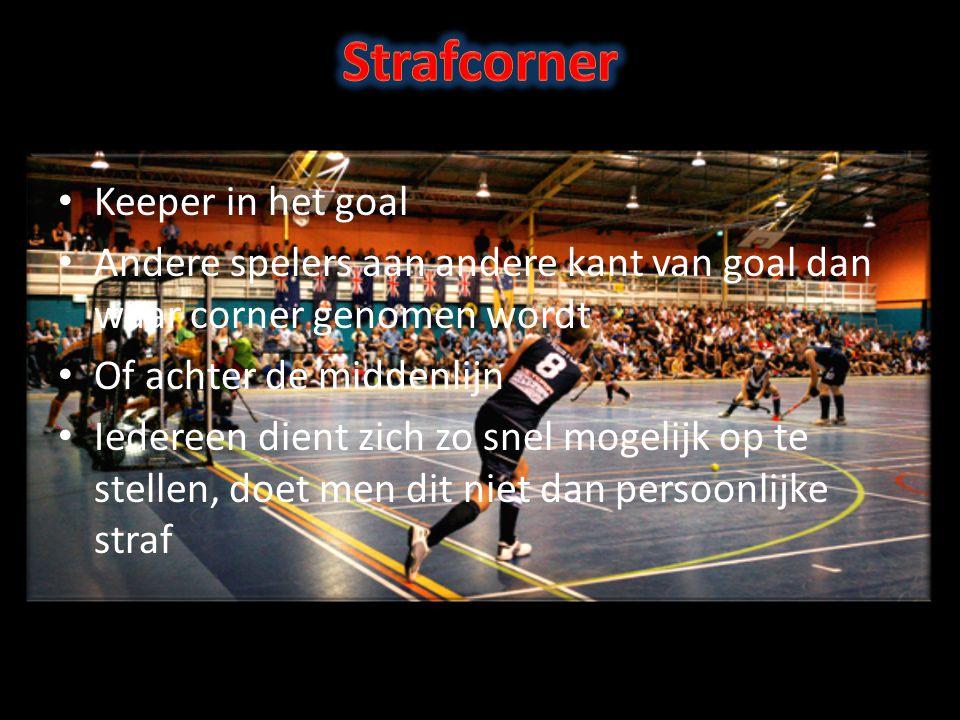 Keeper in het goal Andere spelers aan andere kant van goal dan waar corner genomen wordt Of achter de middenlijn Iedereen dient zich zo snel mogelijk op te stellen, doet men dit niet dan persoonlijke straf