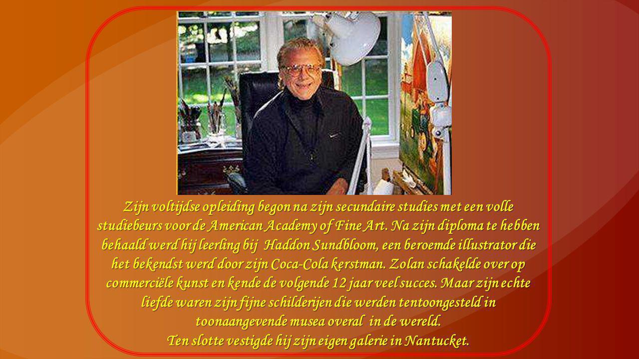 Zijn voltijdse opleiding begon na zijn secundaire studies met een volle studiebeurs voor de American Academy of Fine Art.