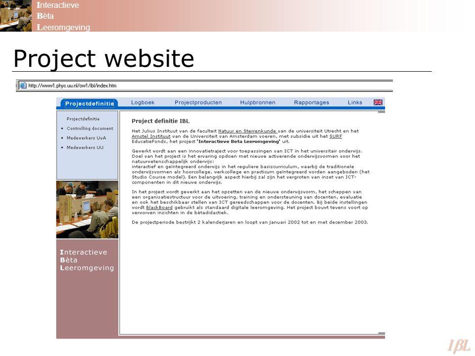 Project website I nteractieve B èta L eeromgeving ILILILIL
