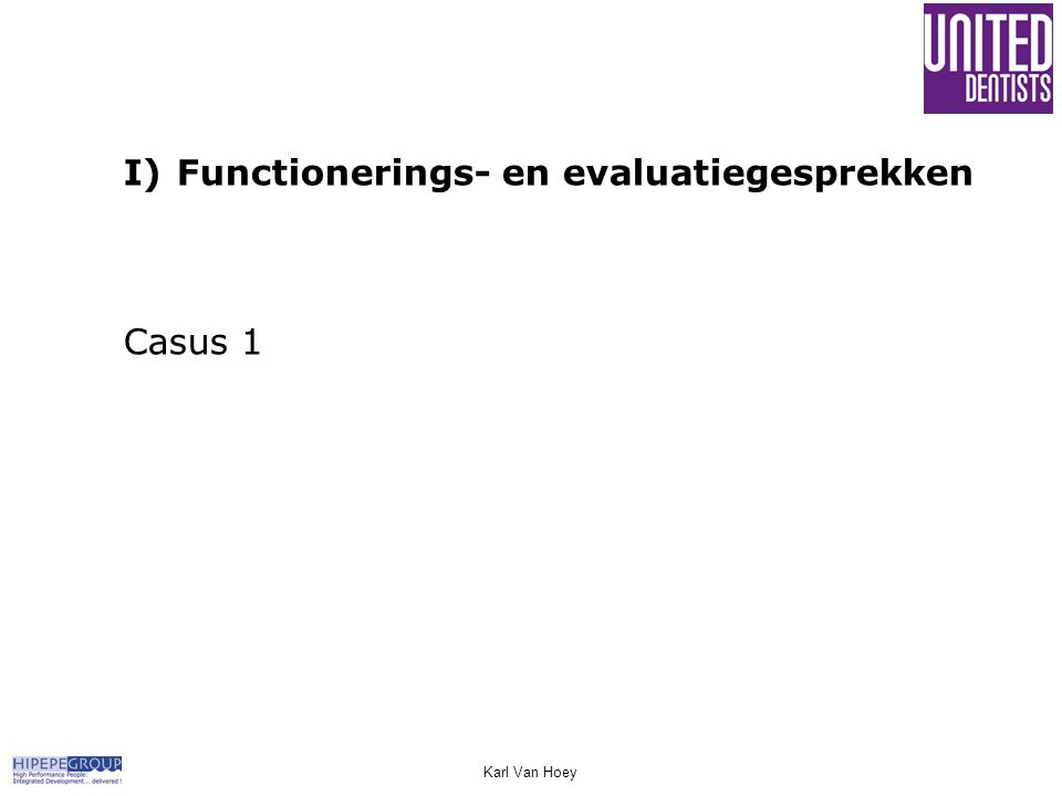 Karl Van Hoey I)Functionerings- en evaluatiegesprekken Casus 1