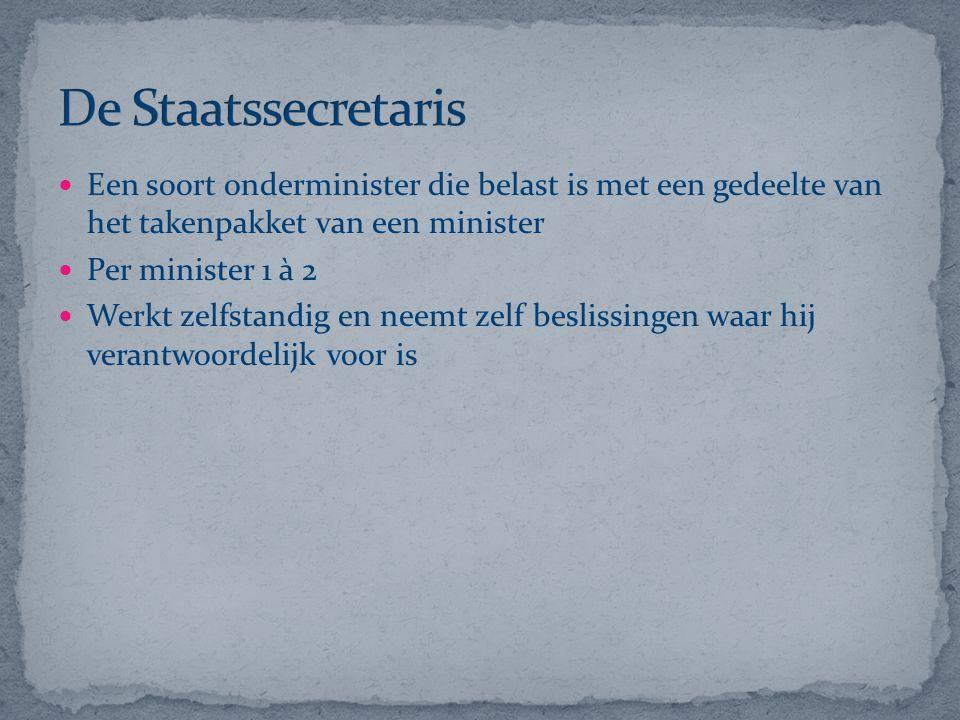 Regering: De regering bestaat uit de Koningin en de ministers.