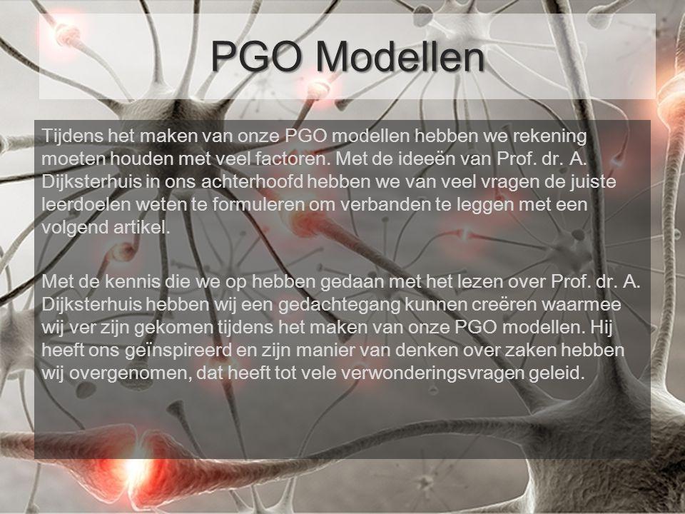 Tijdens het maken van onze PGO modellen hebben we rekening moeten houden met veel factoren.