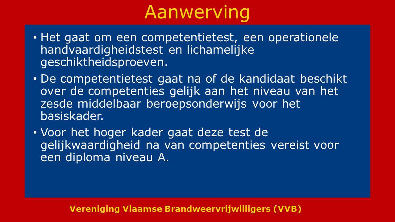 Vereniging Vlaamse Brandweervrijwilligers (VVB) Ambulanciers die geen BWM zijn Voor deze medewerkers werd een apart administratief- en geldelijk statuut uitgewerkt.