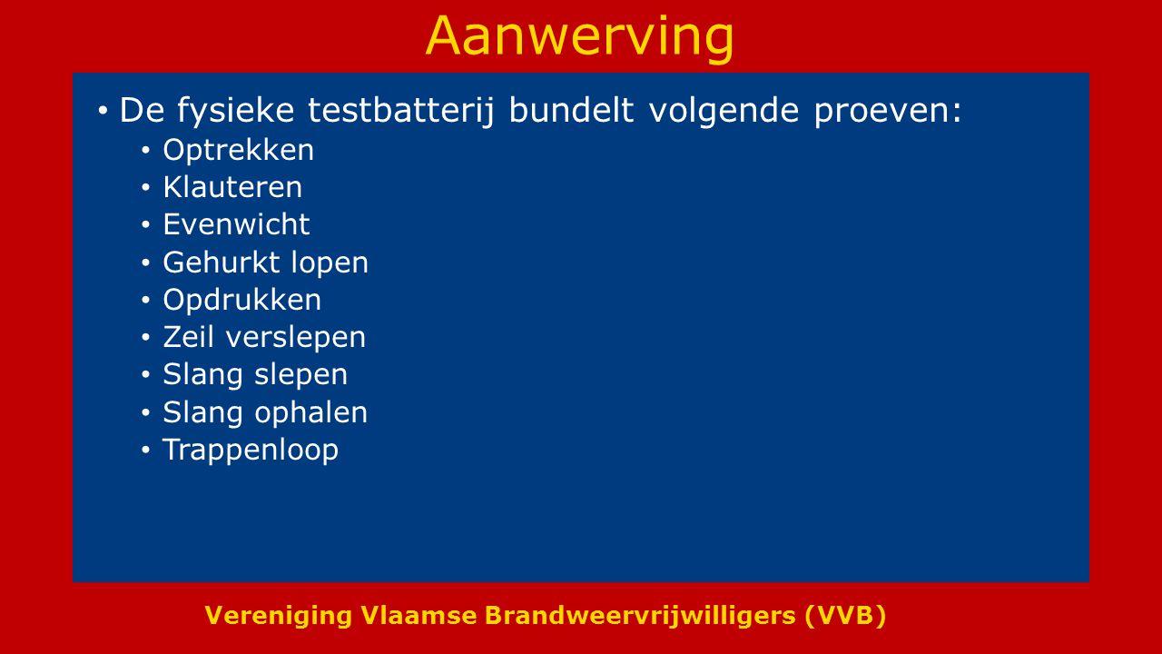 Vereniging Vlaamse Brandweervrijwilligers (VVB) Diensttijd vrijwilligers Omdat de vrijwilligers niet onderhevig zijn aan de arbeidstijdwetgeving voor beroeps worden er regels voor de vrijwilligers vastgelegd.