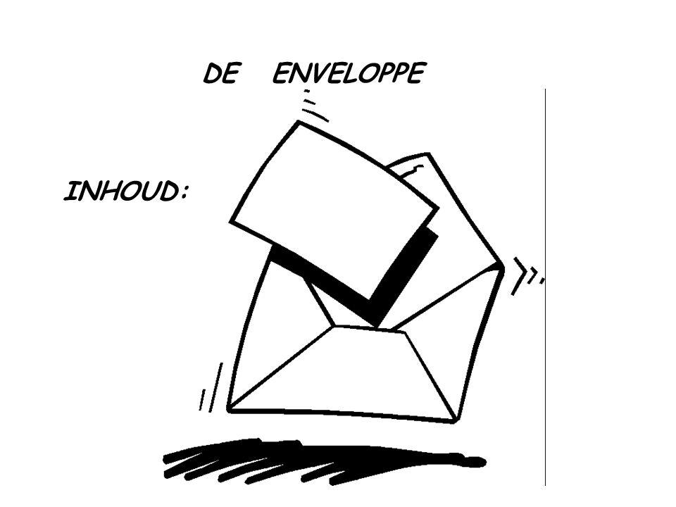 DE ENVELOPPE INHOUD: