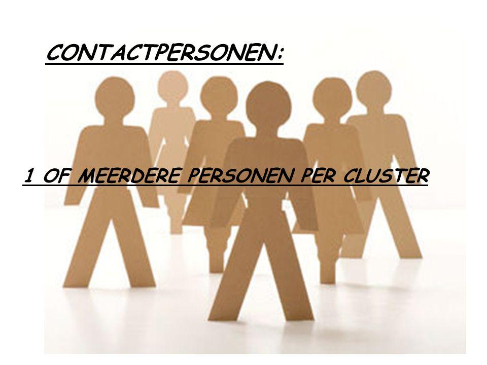 CONTACTPERSONEN: 1 OF MEERDERE PERSONEN PER CLUSTER