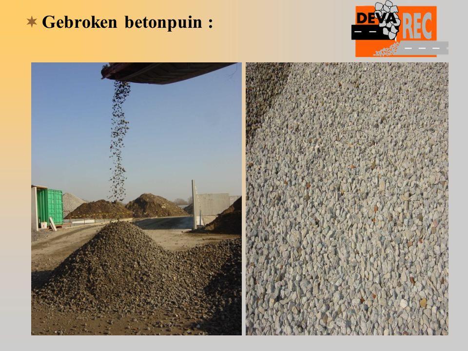  Gebroken betonpuin :